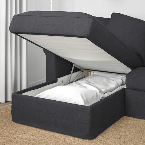 GRÖNLID - 四座位梳化, 連躺椅/Sporda 深灰色   IKEA 香港及澳門 - PE669697_S4