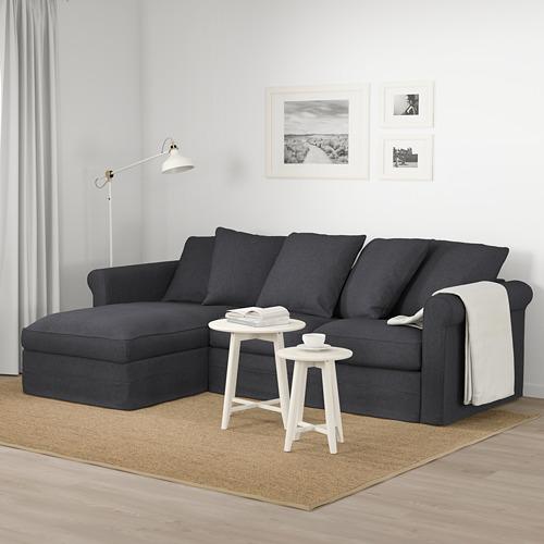 GRÖNLID - 3-seat sofa, with chaise longue/Sporda dark grey   IKEA Hong Kong and Macau - PE675023_S4
