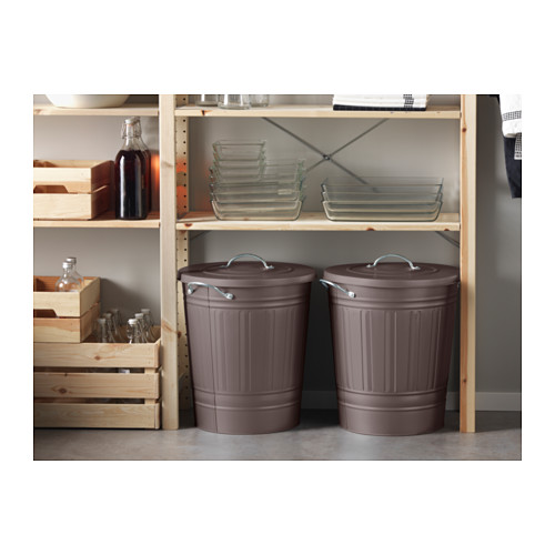 KNODD - bin with lid, grey | IKEA Hong Kong and Macau - PE579647_S4