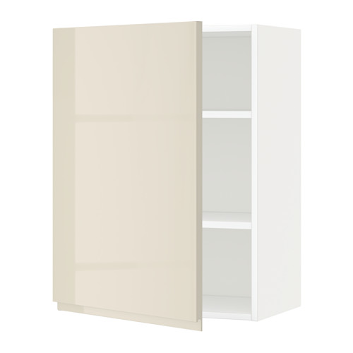 METOD - 吊櫃連層板, white/Voxtorp high-gloss light beige | IKEA 香港及澳門 - PE579663_S4