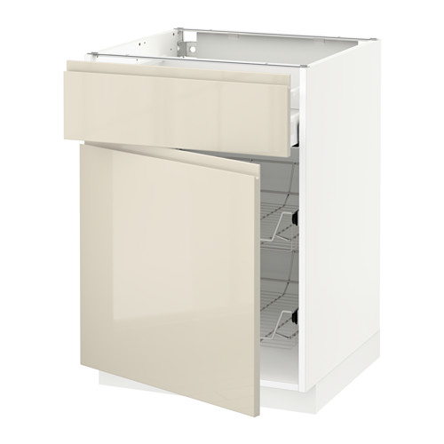 METOD/MAXIMERA base cab w wire basket/drawer/door