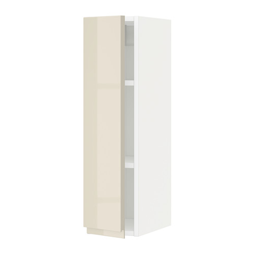 METOD - wall cabinet with shelves, white/Voxtorp high-gloss light beige | IKEA Hong Kong and Macau - PE579711_S4