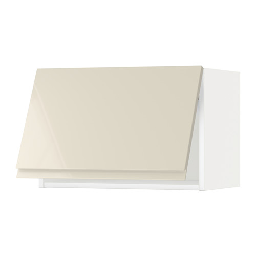METOD - wall cabinet horizontal w push-open, white/Voxtorp high-gloss light beige   IKEA 香港及澳門 - PE579748_S4