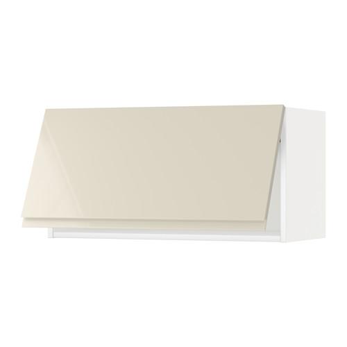 METOD - wall cabinet horizontal, white/Voxtorp high-gloss light beige | IKEA Hong Kong and Macau - PE579844_S4