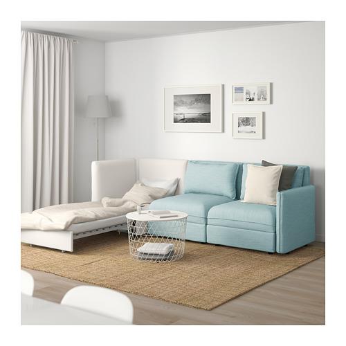 VALLENTUNA - 3-seat modular sofa with sofa-bed, and storage/Hillared/Murum light blue/white | IKEA Hong Kong and Macau - PE691452_S4