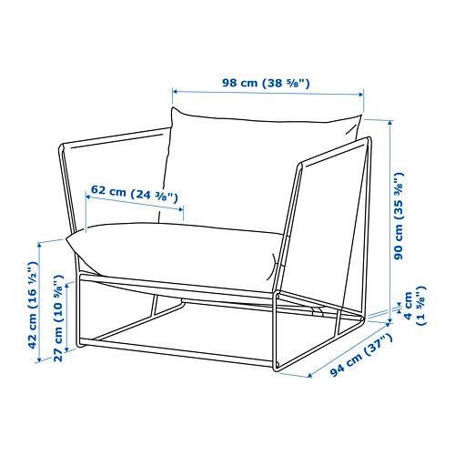 HAVSTEN 扶手椅,室內/戶外用