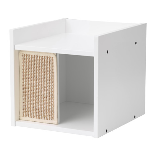 LURVIG - 貓屋連支腳, 白色   IKEA 香港及澳門 - PE644096_S4