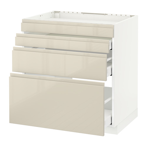 METOD base cab f hob/4 fronts/3 drawers