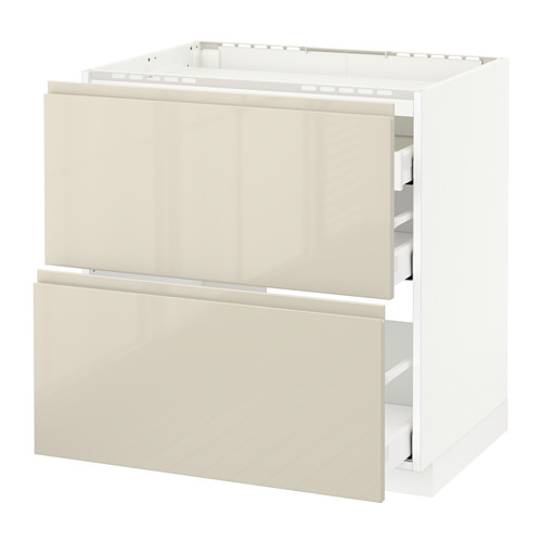 METOD base cab f hob/2 fronts/3 drawers