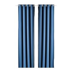 HILLEBORG - 半遮光窗簾,一對, 藍色 | IKEA 香港及澳門 - PE788475_S3