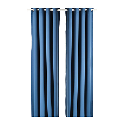 HILLEBORG - room darkening curtains, 1 pair, blue | IKEA Hong Kong and Macau - PE788475_S4