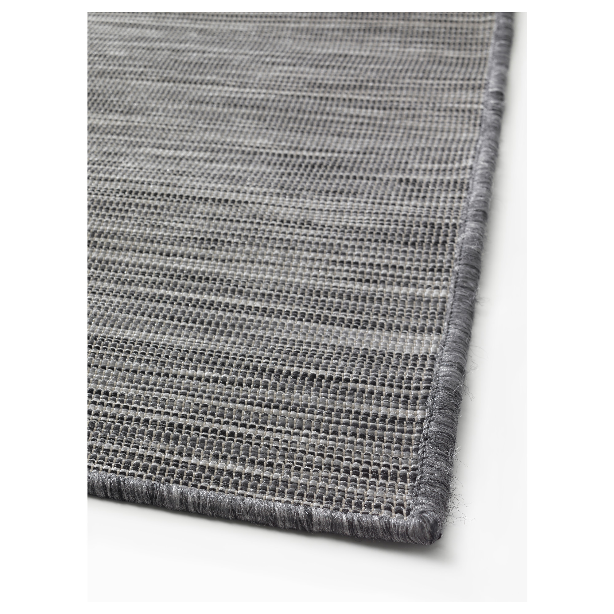 Hodde Rug Flatwoven In Outdoor Grey Black Ikea Hong Kong