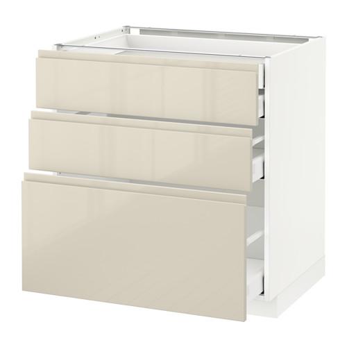 METOD - 廚櫃組合, 白色 Maximera/Voxtorp 光面淺米色 | IKEA 香港及澳門 - PE580056_S4