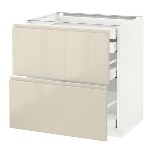METOD - 廚櫃組合, 白色 Maximera/Voxtorp 光面淺米色   IKEA 香港及澳門 - PE580058_S4