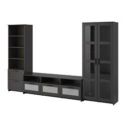 BRIMNES - TV storage combination/glass doors, black | IKEA Hong Kong and Macau - PE734355_S3