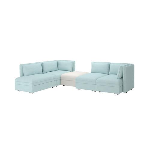 VALLENTUNA 4-seat modular sofa w 3 sofa-beds