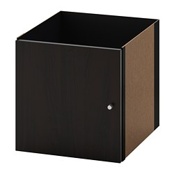 KALLAX - insert with door, black-brown | IKEA Hong Kong and Macau - PE691690_S3