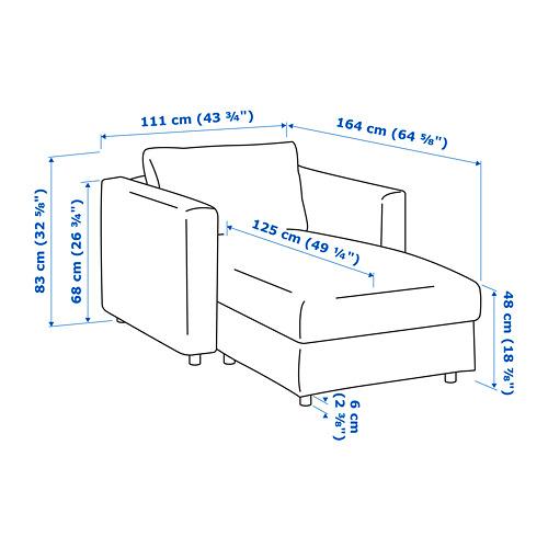 VIMLE - chaise longue, Hallarp beige | IKEA Hong Kong and Macau - PE734367_S4