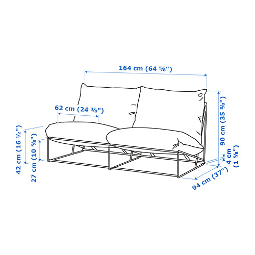 HAVSTEN - 2-seat sofa, in/outdoor, without armrests/beige | IKEA Hong Kong and Macau - PE734370_S4