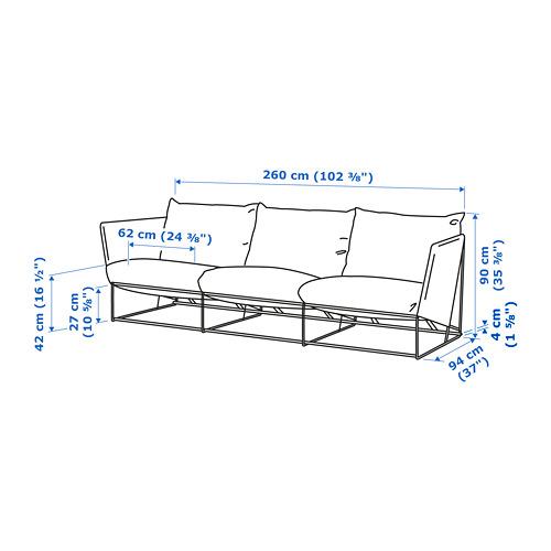 HAVSTEN - 3-seat sofa, in/outdoor, beige   IKEA Hong Kong and Macau - PE734377_S4