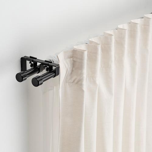 BEKRÄFTA - double curtain rod set, black | IKEA Hong Kong and Macau - PE788530_S4