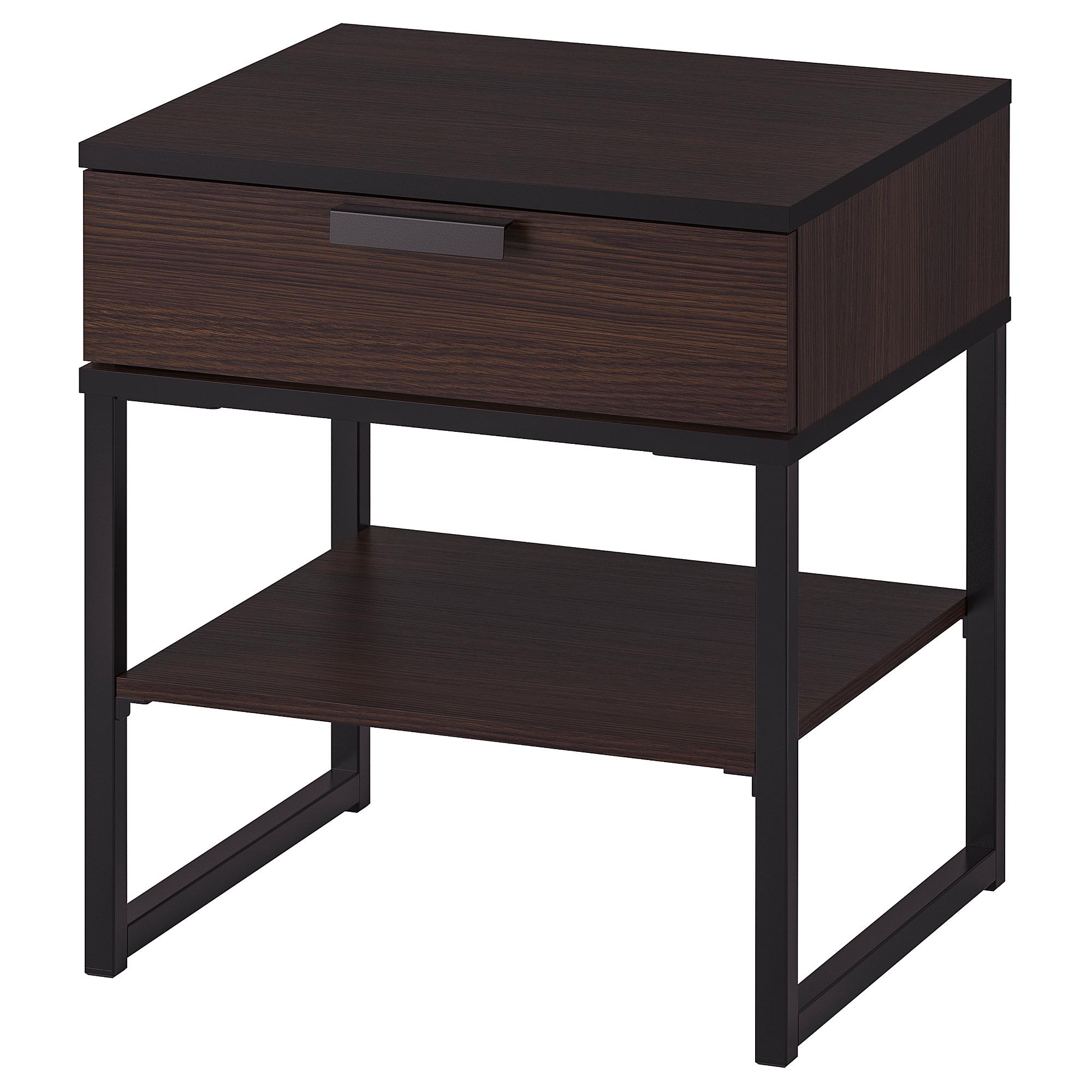 Trysil Bedside Table Dark Brown Black Ikea Hong Kong