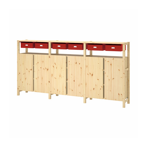 IVAR 3 sections/cabinet/shelves