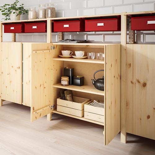 IVAR - 貯物組合, 260x30x124 cm, 松木 紅色   IKEA 香港及澳門 - PE788579_S4