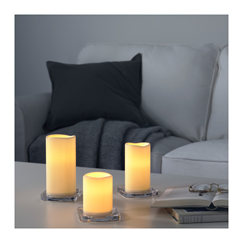 GODAFTON LED燭燈,室內/戶外用,3件套裝
