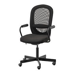 FLINTAN/NOMINELL - office chair with armrests, black | IKEA Hong Kong and Macau - PE734561_S3