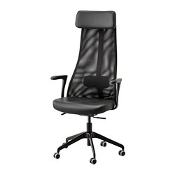 JÄRVFJÄLLET - office chair with armrests, Glose black | IKEA Hong Kong and Macau - PE734556_S3