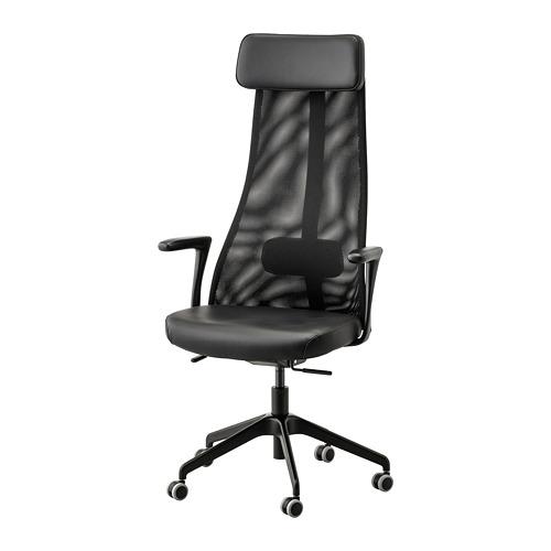 JÄRVFJÄLLET - office chair with armrests, Glose black   IKEA Hong Kong and Macau - PE734556_S4