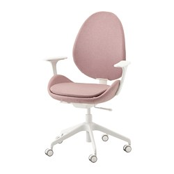 HATTEFJÄLL - office chair with armrests, Gunnared light brown-pink/white | IKEA Hong Kong and Macau - PE734558_S3