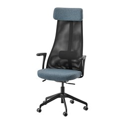 JÄRVFJÄLLET - office chair with armrests, Gunnared blue/black | IKEA Hong Kong and Macau - PE734559_S3