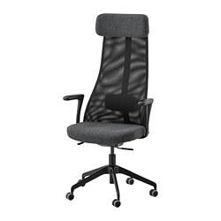 JÄRVFJÄLLET - office chair with armrests, Gunnared dark grey/black | IKEA Hong Kong and Macau - PE734560_S3