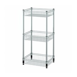 OMAR - shelving unit with 3 baskets, galvanised | IKEA Hong Kong and Macau - PE788602_S3