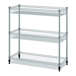 OMAR - shelving unit with 3 baskets, galvanised | IKEA Hong Kong and Macau - PE788606_S3