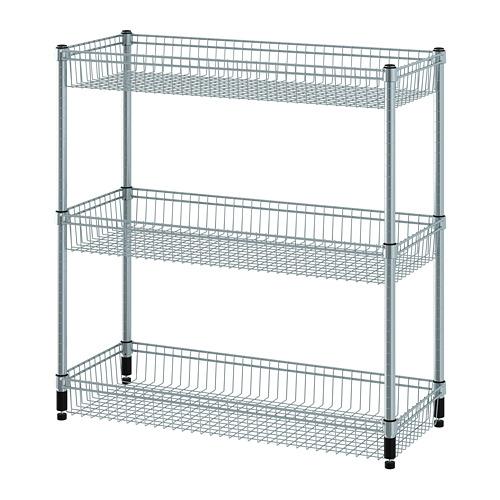 OMAR - 層架連3個貯物籃,鍍鋅    IKEA 香港及澳門 - PE788606_S4