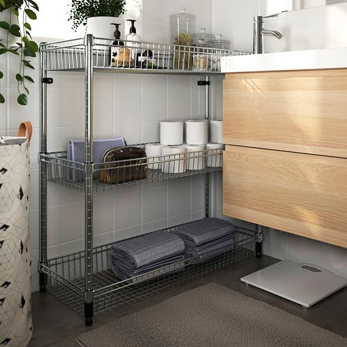 OMAR - 層架連3個貯物籃,鍍鋅    IKEA 香港及澳門 - PE788607_S4