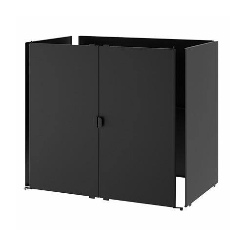 GRILLSKÄR - 門/邊架/背板, 黑色/不銹鋼 戶外 | IKEA 香港及澳門 - PE788611_S4