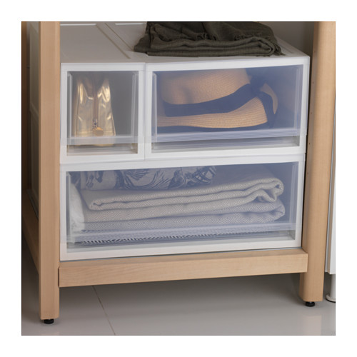SOPPROT - pull-out storage unit, transparent white | IKEA Hong Kong and Macau - PE644549_S4