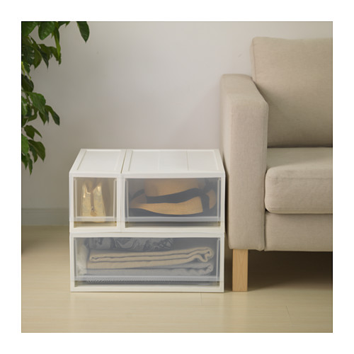 SOPPROT - pull-out storage unit, transparent white | IKEA Hong Kong and Macau - PE644548_S4