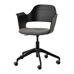 FJÄLLBERGET - conference chair, black stained ash veneer/Gunnared dark grey | IKEA Hong Kong and Macau - PE734586_S3