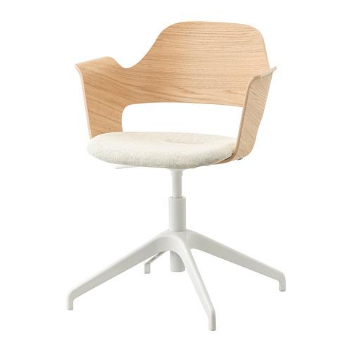 FJÄLLBERGET - conference chair, white stained oak veneer/Gunnared beige | IKEA Hong Kong and Macau - PE734599_S4