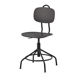 KULLABERG - swivel chair, black | IKEA Hong Kong and Macau - PE734601_S3