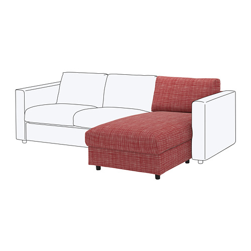 VIMLE cover for chaise longue section