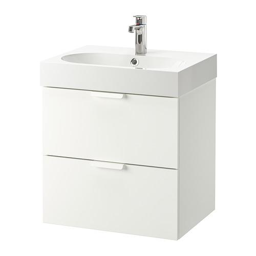 GODMORGON/BRÅVIKEN 雙抽屜洗手盆櫃