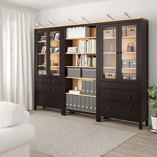 HEMNES - 貯物組合連門/抽屜, 棕黑色/淺褐色 | IKEA 香港及澳門 - PE776181_S4