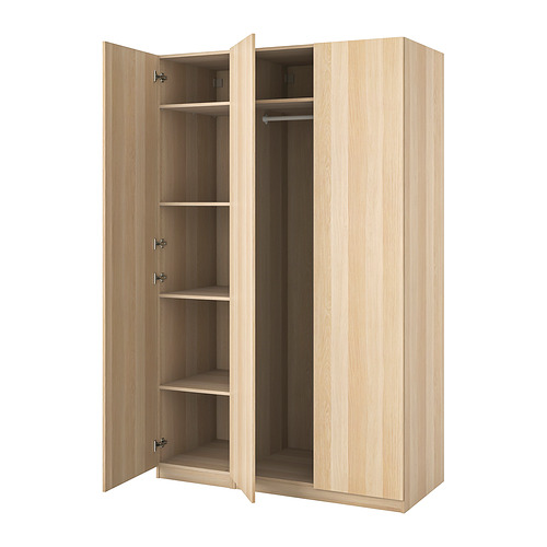 PAX/FORSAND - wardrobe combination, white stained oak effect   IKEA Hong Kong and Macau - PE833635_S4
