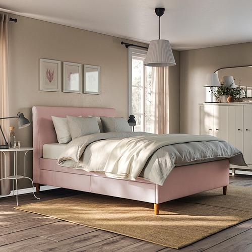 IDANÄS - 特大雙人儲物床, Gunnared 淡粉紅色   IKEA 香港及澳門 - PE833650_S4